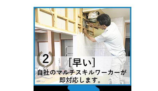 完全自社施工 職人 洗面化粧台 トイレ キッチン