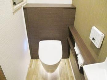 かっこいいトイレになりました。ありがとうございました。